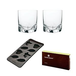 VS TULUFAN ICE SET Sada silikonové formy a 2 skleniček, hnědá