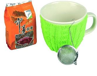 VS GOA SADA Čajová sada, hrnek se zeleným návlekem a sypaný čaj