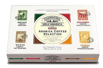 FIETRA Dárková kolekce pražených mletých káv, 100% arabica, v dárkové krabičce