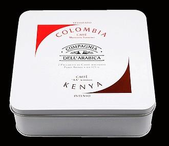 Corsini Giftset Compagnia Colombia & Kenya mletá plech 2x125g