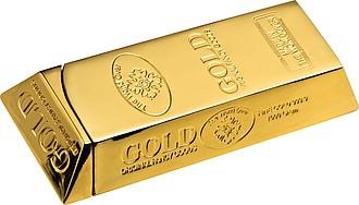 GOLDIK Zapalovač ve tvaru zlaté cihličky reklamní zapalovač