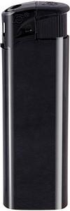 DALE Zapalovač piezo plastový, černý reklamní zapalovač