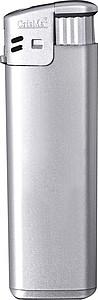 Elektronický barevný zapalovač, plnící, stříbrná reklamní zapalovač