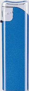 VLADO Zapalovač piezo, modrý metalický reklamní zapalovač