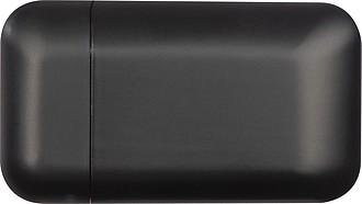Matný plastový zapalovač, který se nabíjí USB kabelem, černý reklamní zapalovač