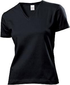Tričko STEDMAN CLASSIC V-NECK WOMEN černá XXL - reklamní bundy