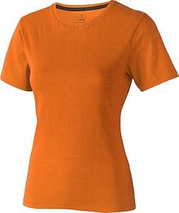 Tričko ELEVATE NANAIMO LADIES T-SHIRT oranžová 1655C, velikost M - reklamní čepice