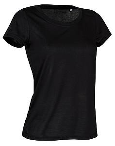 Tričko STEDMAN ACTIVE COTTON TOUCH WOMEN černá XL - reklamní trička