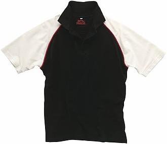 Polokošile SLAZENGER RAGLAN POLO černá, červená, bílá XXL - reklamní bundy