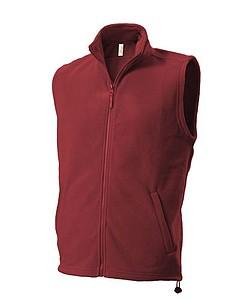 UNISEX FLEECE VEST Fleecová vesta, tmavě červená XXL - reklamní vesty