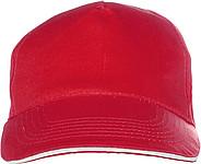 PROGRESA Pětipanelová bavlněná čepice, červená - reklamní čepice
