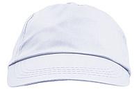 ŽOKEJ Pětipanelová bavlněná čepice, bílá
