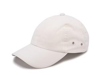 PLAIN Plátěná čepice s kšiltem, bílá - reklamní čepice