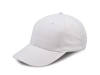 Klasická šestipanelová čepice s přezkou, bílá - reklamní čepice