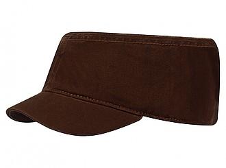 Dámská čepice ve vojenském stylu, hnědá - reklamní čepice