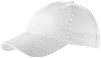 Šestipanelová čepice ELEVATE BRYSON bílá - reklamní čepice