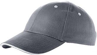 Šestipanelová čepice ELEVATE BRENT šedá - reklamní bundy