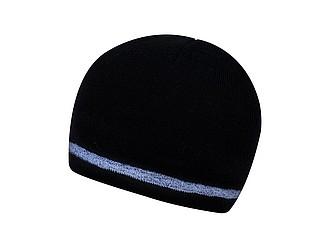 DONY Dvouvrstvá čepice s reflexním okrajem, černá - reklamní čepice