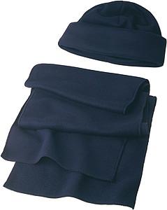 NORD Souprava šála a čepice, fleece, modrá