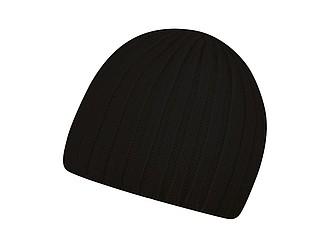 Pletená akrylová čepice, černá - reklamní čepice