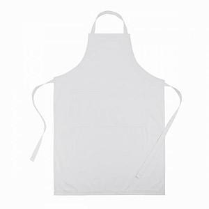 Kuchařská zástěra, nastavitelný pásek, bílá
