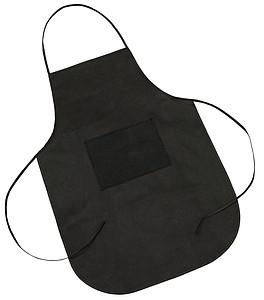 Plastová zástěra s kapsou, černá