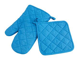 ROLDY Sada kuchyňské chňapky a rukavice, modrá