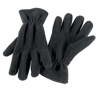 flaušové rukavice, černá