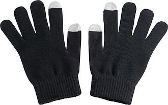 Rukavice s dvěma prsty k ovládání kapacitních displejů