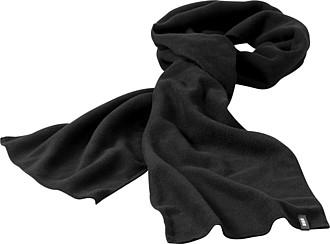 Fleecová šála Elevate 180x26 cm, černá