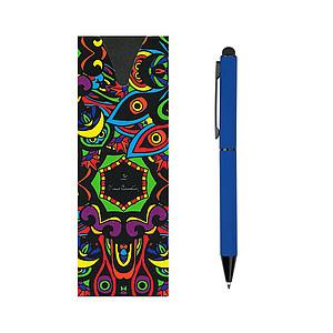 PIERRE CARDIN CELEBRATION Kovové kuličkové pero se stylusem, tmavě modré - reklamní zápisník