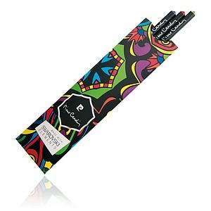 PIERRE CARDIN OPERA Sada 3 černých tužek s krystalem Swarovski - červený, modrý a zelený - reklamní zápisník