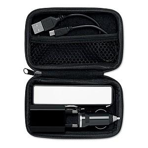 CINAMON Cestovní sada power banky, autonabíječky a USB kabelu, černá