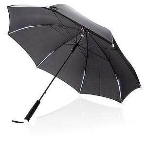 """TAURAGOS 23"""" manuální deštník s LED světlem, černá"""