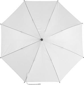 EDUARDO Holový automatický deštník, pr. 103,5 cm, bílý