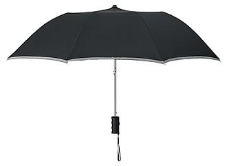AZRAKEL deštník s reflexním prvkem, černá - pláštěnky