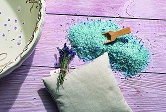 VS KOHALA levandulová sada vonného polštářku a soli do koupele