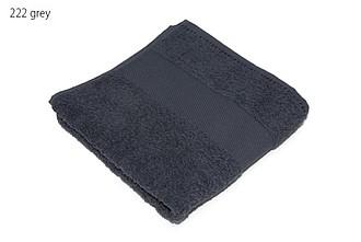 Classic osuška 70x140 cm, 100 % bavlna, 450 g/m2, tmavě šedá ručníky s potiskem