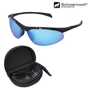 SCHWARZWOLF 4ALL sluneční brýle s výměnnými skly, v pouzdře - reklamní trička
