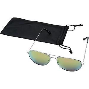 Sluneční brýle s barevnými zrcadlovými skly, jasně zelená