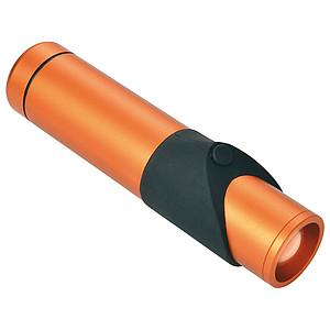 SCHWARZWOLF KAPILA bezpečnostní kapesní svítilna, oranžová - reklamní hrnky