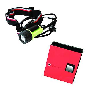 SCHWARZWOLF ATON Malá voděodolná baterka/čelovka s baterií