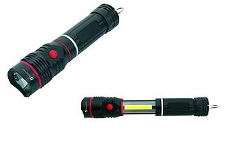 SCHWARZWOLF BIWA kovová svítilna s Cree a COB diodami, magnetem a očkem