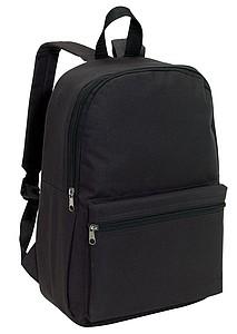 CHAPINO Batoh s dvěma kapsami na zip, černý