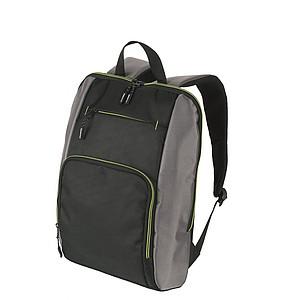 SCHWARZWOLF PIRIN batoh, černý se zelenými detaily