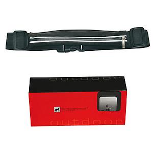 SCHWARZWOLF RAVIK multifunkční elastický pás s kapsou, černý - reklamní trička