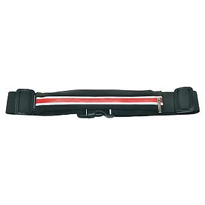 SCHWARZWOLF RAVIK multifunkční elastický pás s kapsou, červený