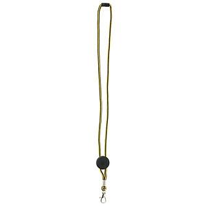 DEVERIL Nylonová šňůrka na krk s karabinkou, černo žlutá - reklamní hrnky