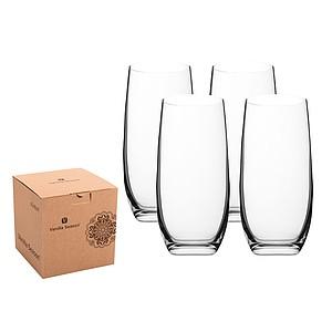 VS KIRIBATI sada 4 vysokých sklenic - reklamní hrnky
