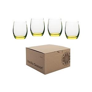 VS HATTA sada 4 žlutých neonových sklenic